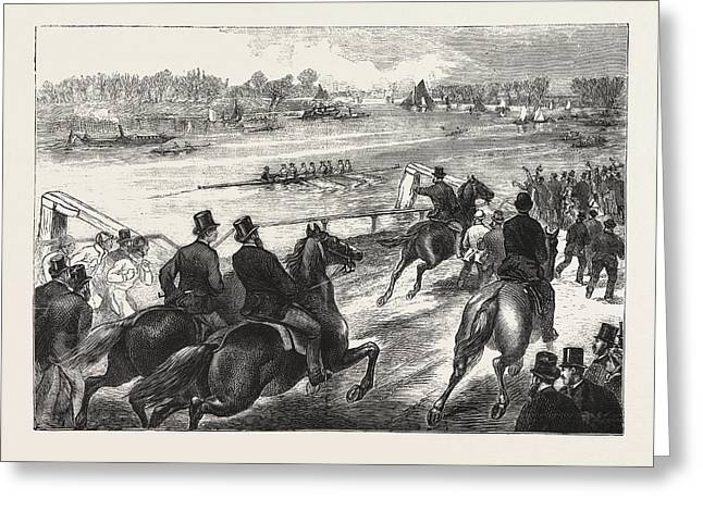 Coaching,  A Sketch At Chiswick, The Boat Race Is An Annual Greeting Card