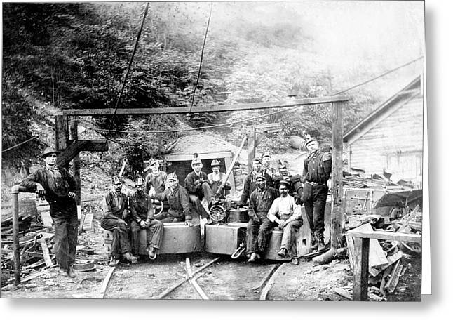Coal And Coke Mining Greeting Card by Library Of Congress