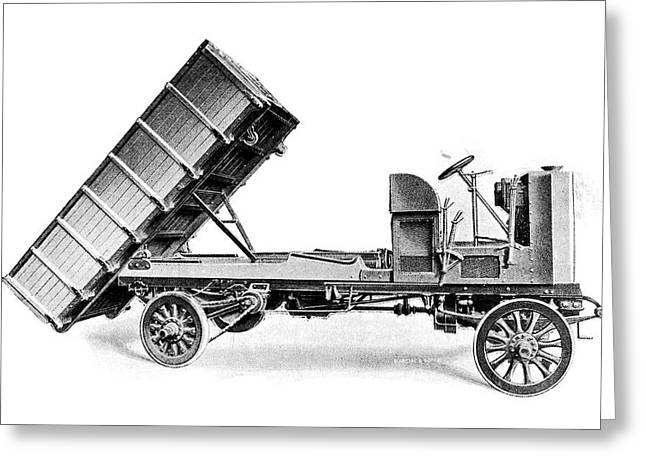 Coal Dumper Truck Greeting Card by Science Photo Library