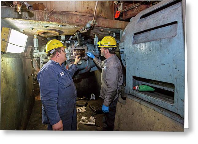 Coal-fired Power Station Workers Greeting Card