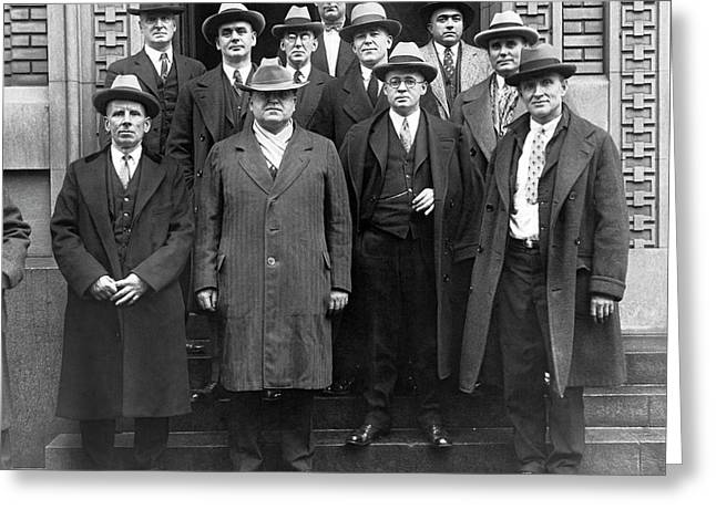 Coal Industry Labor Leaders Greeting Card by Underwood Archives
