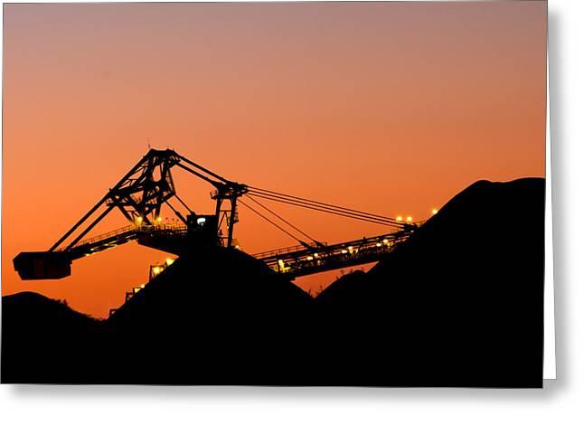 Coal Loader Greeting Card by Nicholas Blackwell