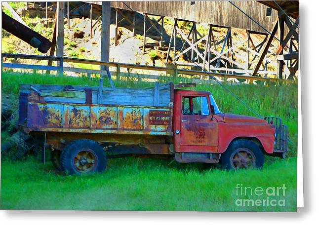 Coal Truck Greeting Card by John Kreiter