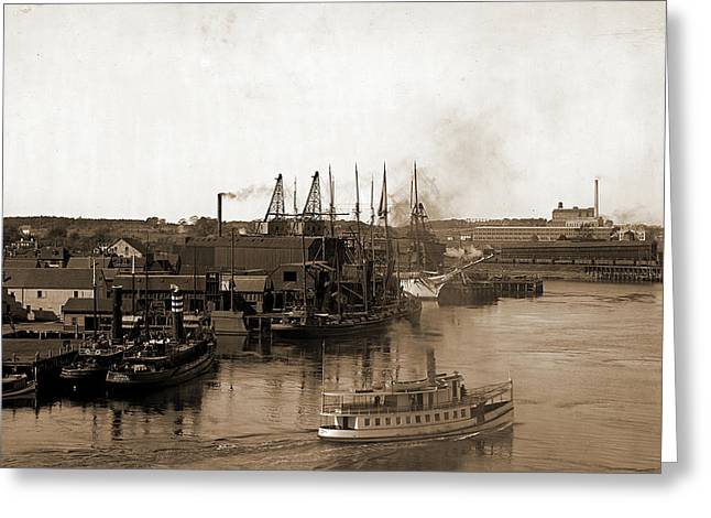 Coal Wharves, Portsmouth Greeting Card by Litz Collection