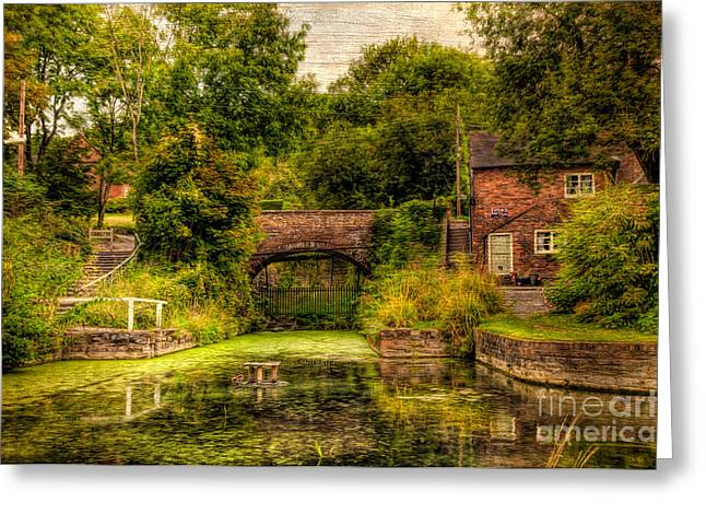 Coalport Canal Greeting Card by Adrian Evans