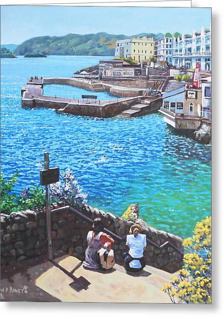Coast Of Plymouth City Uk Greeting Card