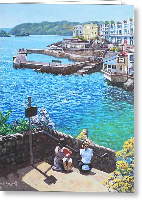 Coast Of Plymouth City Uk Greeting Card