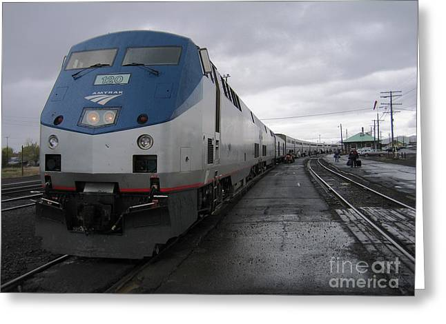 Coast Starlight At Klamath Falls Greeting Card by James B Toy