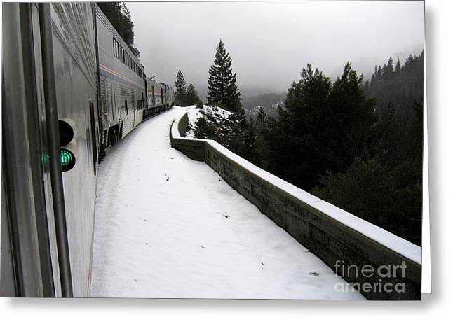Coast Starlight In The Mountains Greeting Card