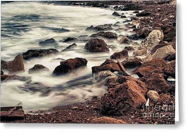 Coast Greeting Card by Stelios Kleanthous