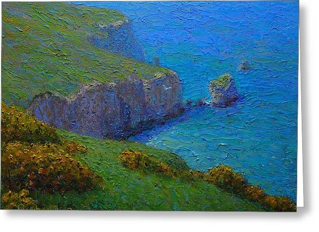 Coast Tunnel Beach Greeting Card by Terry Perham