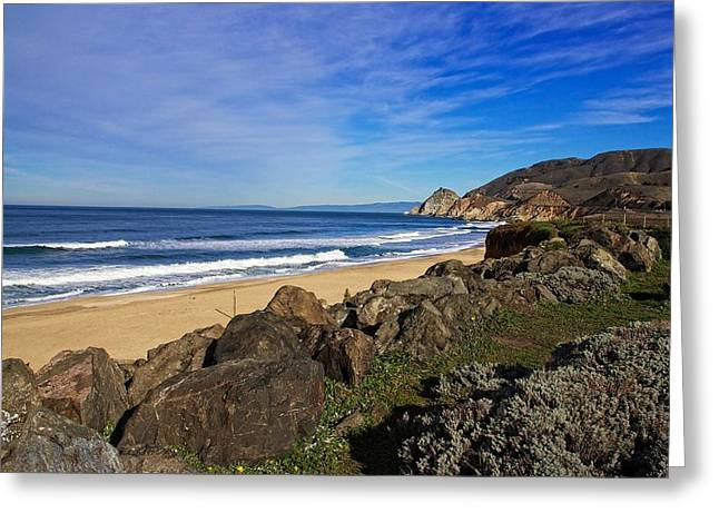 Greeting Card featuring the photograph Coastal Beauty by Dave Files