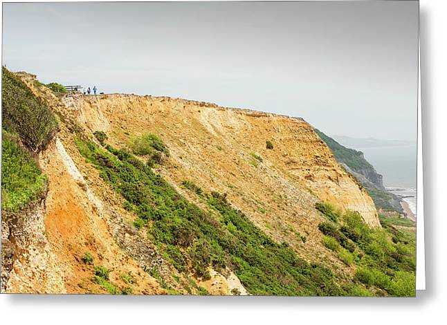 Coastal Cliff On The Jurassic Coast Greeting Card by Ashley Cooper