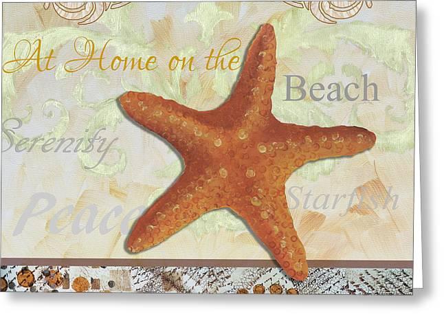 Coastal Decorative Starfish Painting Decorative Art By Megan Duncanson Greeting Card