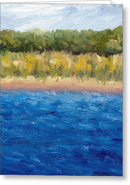 Coastal Dunes 2.0 Greeting Card by Michelle Calkins