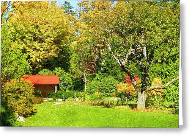Greeting Card featuring the photograph Coastal Garden by Gene Cyr