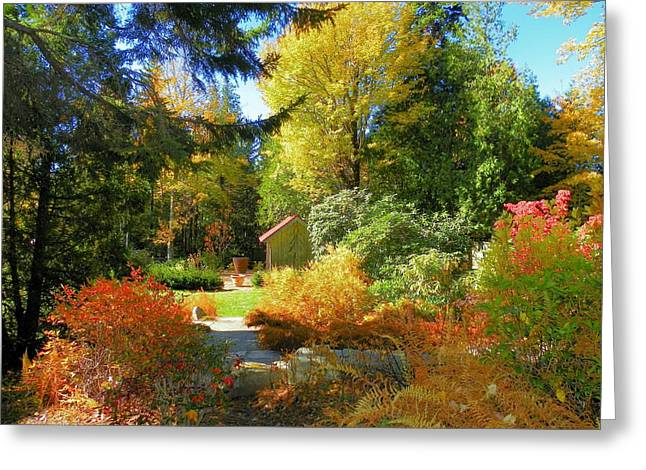 Greeting Card featuring the photograph Coastal Maine Garden by Gene Cyr