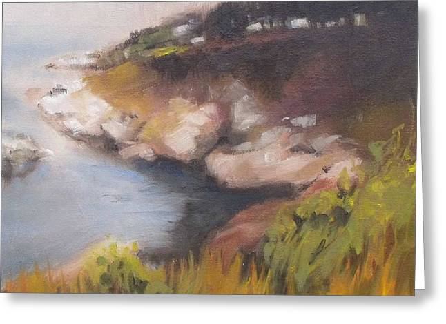 Coastal Mist Greeting Card by Mary Hubley
