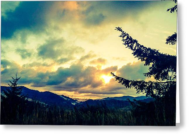 Coastal Mountain Sunrise IIi Greeting Card