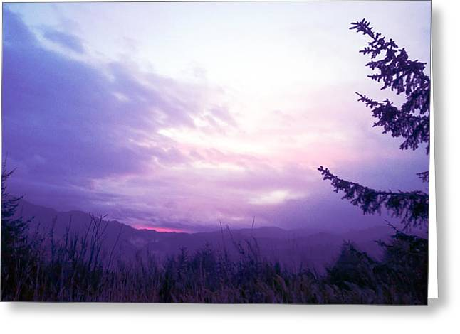 Coastal Mountain Sunrise Iv Greeting Card