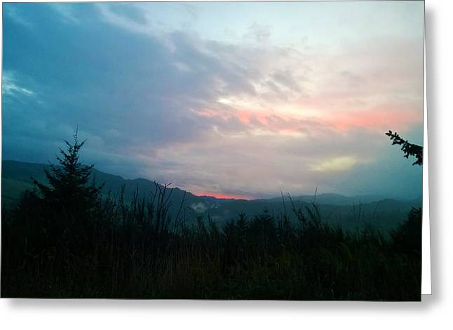 Coastal Mountain Sunrise V Greeting Card