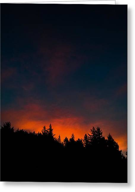 Coastal Mountain Sunrise Vi Greeting Card