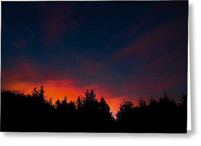 Coastal Mountain Sunrise Vii Greeting Card