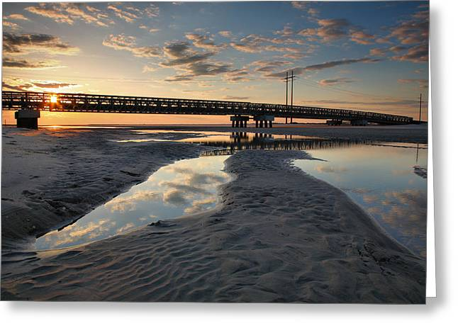 Coastal Ponds And Bridge II Greeting Card