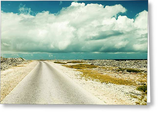 Coastal Road Around Bonaire Greeting Card by James White
