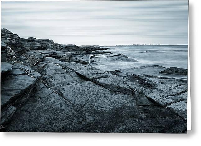 Coastal Rocks Greeting Card by Lourry Legarde