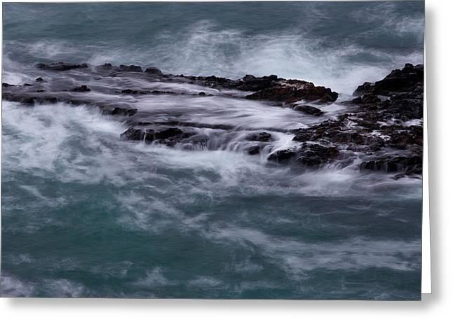 Coastal Rocks Off Rancho Palo Verdes Photography By Denise Dube Greeting Card