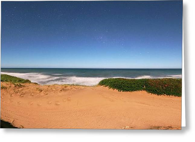 Coastal Sand Dunes Greeting Card by Luis Argerich