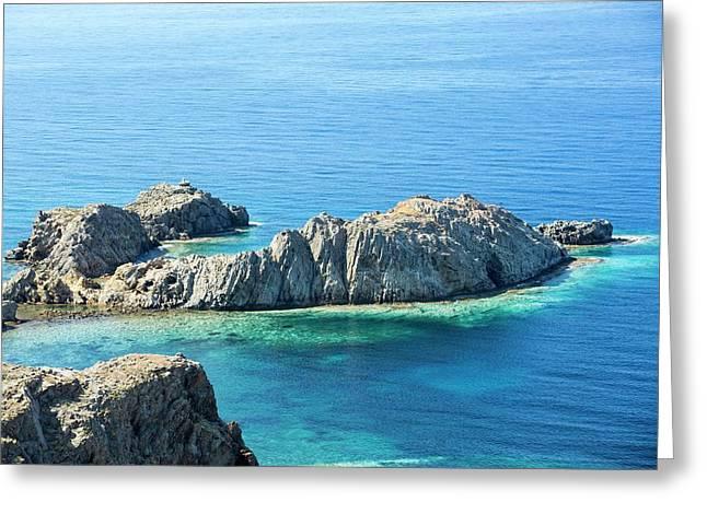 Coastal Scenery In Skala Eresou Greeting Card