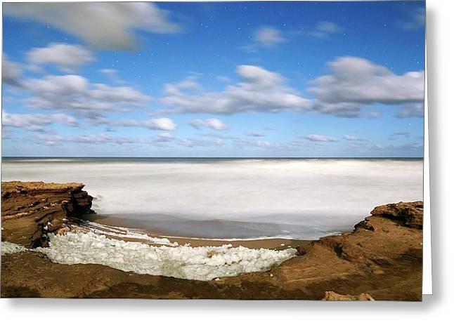 Coastal Sea Foam Greeting Card by Luis Argerich