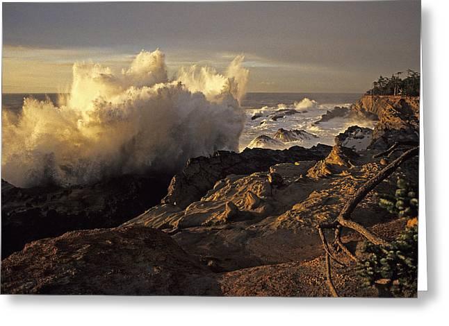 Coastal Storm Wave Greeting Card