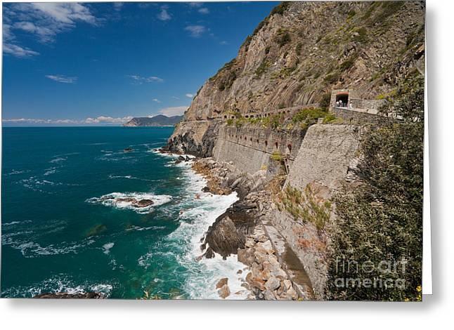 Coastal Stroll Greeting Card by Mike Reid