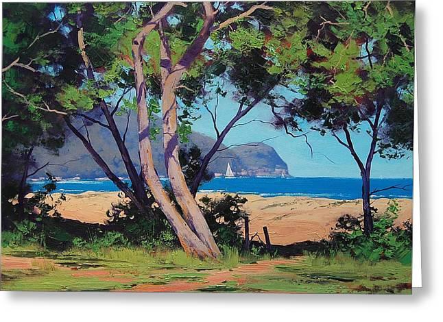 Coastal Summer Greeting Card by Graham Gercken