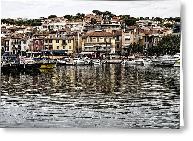 Coastal Town - South Of France Greeting Card by Georgia Fowler