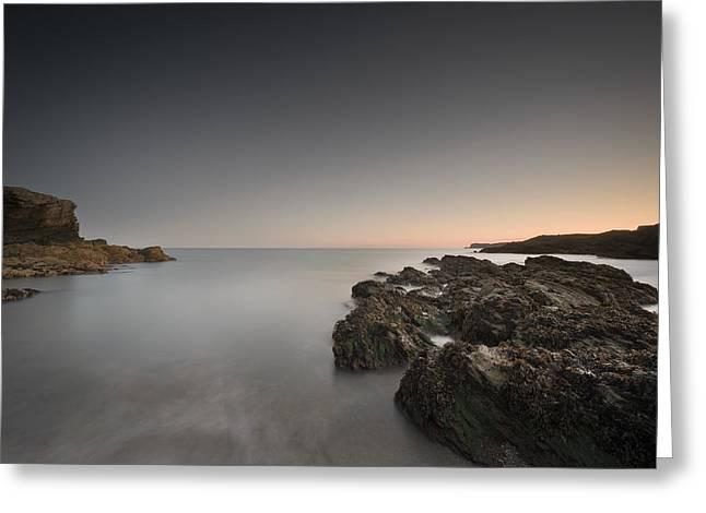 Coastal Twilight Seascape Greeting Card by Andy Astbury