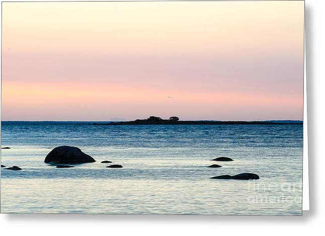 Coastal Twilight View Greeting Card