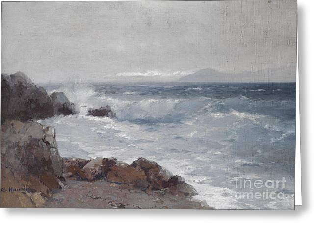Coastal View Greeting Card by Celestial Images