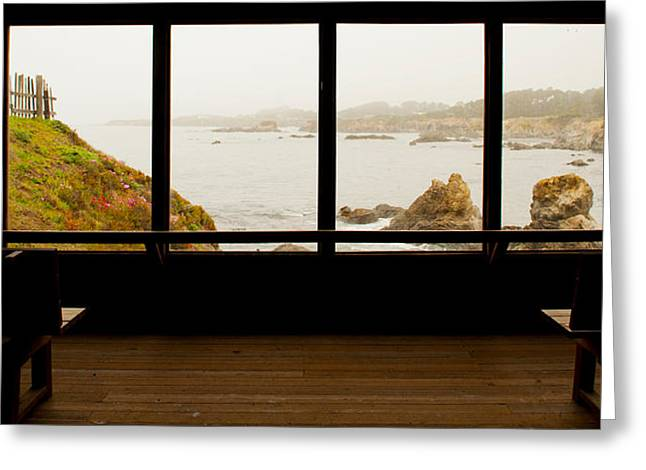 Coastal Viewed From A Shed At Mendocino Greeting Card