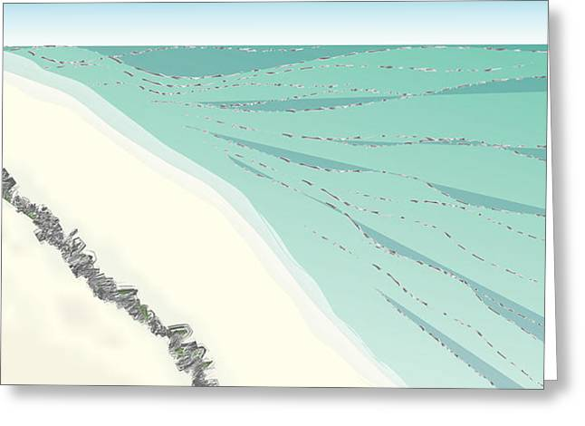 Coastal Wash Greeting Card