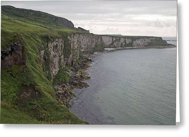 Coastline Carrick-a-rede Northern Ireland Greeting Card by Betsy Knapp