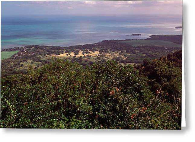 Coastline, Mauritius Island, Mauritius Greeting Card by Panoramic Images