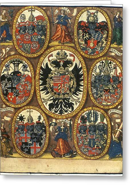 Coats Of Arms Greeting Card by Granger