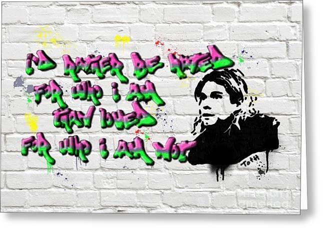Cobain Graffiti Greeting Card