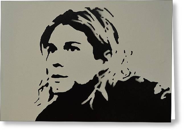 Cobain Spray Art Greeting Card