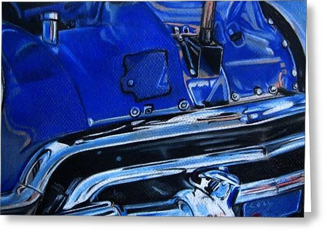 Cobalt Blue Greeting Card by Kathleen Bischoff