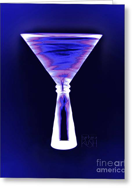 Cobalt With Purple Fringe Martini Greeting Card